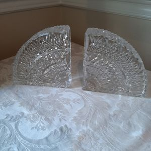 Vintage Waterford crystal bookends as is